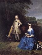 Peter Tillemans Master Edward and Miss Mary Macro oil painting picture wholesale