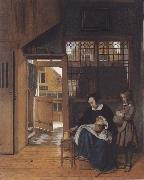 Pieter de Hooch The sandwich fur the school oil painting picture wholesale