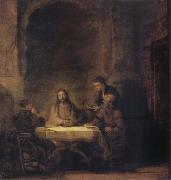 Rembrandt van rijn Christ in Emmaus oil painting picture wholesale