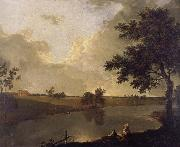 Richard  Wilson View of Tabley House,Cheshire oil painting artist