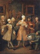 William Hogarth The morning reception oil painting picture wholesale