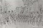 William Waud Sherman Reviewing His Army on Bay Street,Savannah,January oil painting picture wholesale