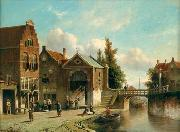 unknow artist European city landscape, street landsacpe, construction, frontstore, building and architecture.054 oil painting picture wholesale
