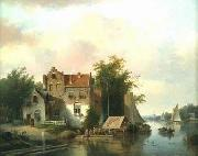 unknow artist European city landscape, street landsacpe, construction, frontstore, building and architecture.053 oil painting picture wholesale