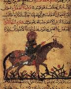 unknow artist Islamic school horse and horseman illustration out of the book of the smith art of Ahmed ibn al-Husayn ibn al-Ahnaf oil painting picture wholesale