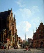 unknow artist European city landscape, street landsacpe, construction, frontstore, building and architecture.049 oil painting picture wholesale