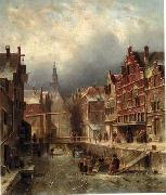 unknow artist European city landscape, street landsacpe, construction, frontstore, building and architecture.017 oil painting picture wholesale