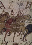 unknow artist Frankeich knight in the attack on Harold, out of the carpet of Bayeux oil painting picture wholesale