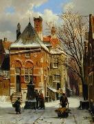 unknow artist European city landscape, street landsacpe, construction, frontstore, building and architecture.046 oil painting picture wholesale