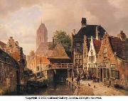 unknow artist European city landscape, street landsacpe, construction, frontstore, building and architecture.058 oil painting picture wholesale