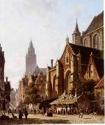 unknow artist European city landscape, street landsacpe, construction, frontstore, building and architecture.014 oil painting picture wholesale