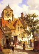 unknow artist European city landscape, street landsacpe, construction, frontstore, building and architecture.060 oil painting picture wholesale