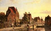unknow artist European city landscape, street landsacpe, construction, frontstore, building and architecture.063 oil painting picture wholesale