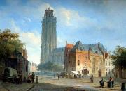 unknow artist European city landscape, street landsacpe, construction, frontstore, building and architecture.052 oil painting picture wholesale
