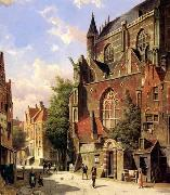 unknow artist European city landscape, street landsacpe, construction, frontstore, building and architecture.056 oil painting picture wholesale