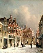 unknow artist European city landscape, street landsacpe, construction, frontstore, building and architecture.055 oil painting picture wholesale