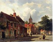 unknow artist European city landscape, street landsacpe, construction, frontstore, building and architecture.011 oil painting picture wholesale