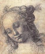 Andrea del Verrocchio Head of a Girl oil painting reproduction