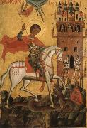 Anonymous The Miracle of St George and the Dragon oil