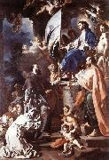 Francesco Solimena St Bonaventura Receiving the Banner of St Sepulchre from the Madonna oil painting picture wholesale