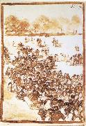Francisco Goya Crowd in a Park oil painting picture wholesale