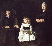 George Wesley Bellows Jan  Ailino and Anna oil painting artist