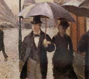 Gustave Caillebotte Detail of Rainy day in Paris oil painting picture wholesale