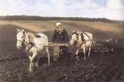 Ilya Repin A Ploughman,Leo Tolstoy Ploughing oil painting