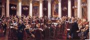 Ilya Repin Formal Session of the State Council Held to Hark its Centeary on 7 May 1901,1903 oil painting