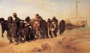 Ilya Repin Barge Haulers on the Volga oil painting picture wholesale