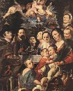 Jacob Jordaens Self-portrait among Parents, Brothers and Sisters oil painting picture wholesale