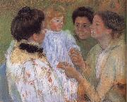 Mary Cassatt Women complimenting the child oil painting picture wholesale