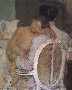 Mary Cassatt Mother holding the kid oil painting picture wholesale