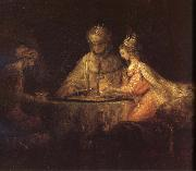REMBRANDT Harmenszoon van Rijn Three People oil painting picture wholesale