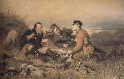 Vasily Perov Hunters at Rest oil painting picture wholesale