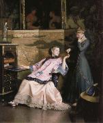 William McGregor Paxton The new necklace oil painting artist