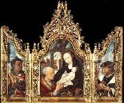 unknow artist Triptych The Adoration of the Magi oil painting picture wholesale