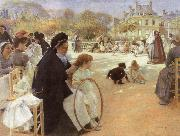 Albert Edelfelt In the Luxembourg Garden oil