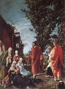 Albrecht Altdorfer Christ takes farval of their mother oil painting picture wholesale