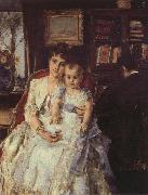 Alfred Stevens Family Scene oil painting picture wholesale