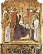 Ambrogio Lorenzetti Madonna with Angels between St Nicholas and Prophet Elisha oil painting artist