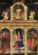 Bartolomeo Vivarini Virgin Enthroned with the Child on her Knee oil painting picture wholesale