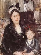 Berthe Morisot The Madam and her dauthter oil painting picture wholesale
