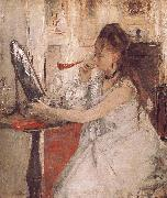 Berthe Morisot Woamn is Making up oil painting picture wholesale