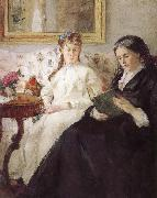 Berthe Morisot Artist-s monther and his sister oil painting picture wholesale