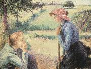 Camille Pissarro The Chat oil painting picture wholesale