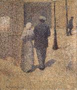 Charles Angrand Man and Woman in the Street oil painting picture wholesale