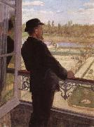 Christian Krohg Portrait of the Artist Karl Nordstrom at Grez oil