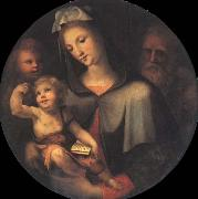 Domenico Beccafumi The Holy Family with Young Saint John around oil painting picture wholesale
