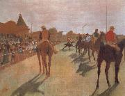 Edgar Degas Race Horses in Front of the Stand oil painting picture wholesale